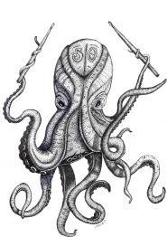 Dot art Octopus