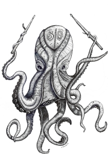 Dot art Octopus