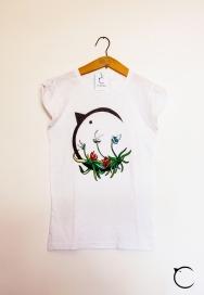 canaria logo e fiori t-shirt