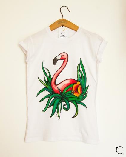 maglia fenicottero t-shirt