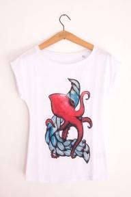 polpo e onda t-shirt